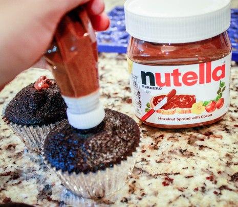 Dark Chocolate Nutella Cupcakes-3
