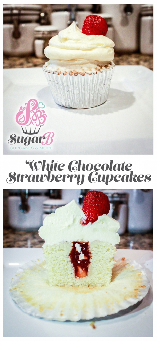 White Chocolate Strawberry Cupcakes-1