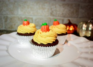 Chocolate Pumpkin Cupcakes-5