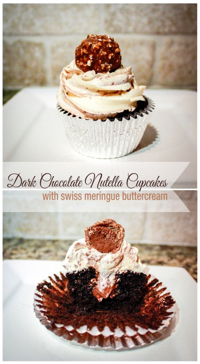 Dark Chocolate Nutella Cupcakes-6