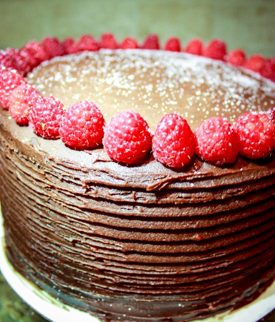 Chocolate Raspberry Ganache Cake-1900