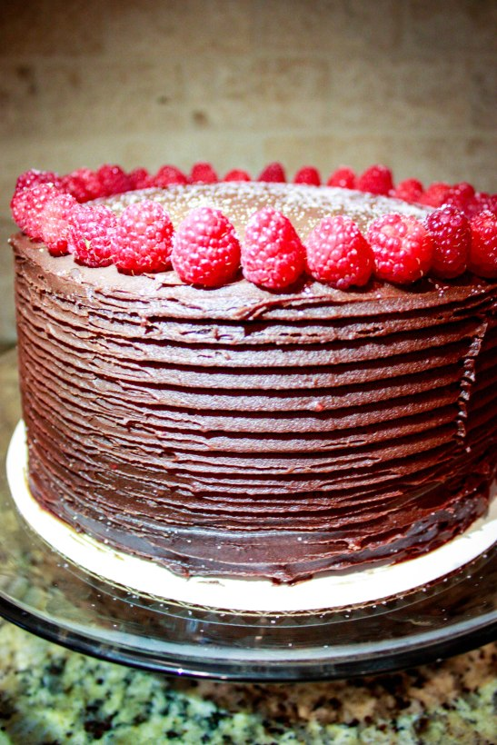 Chocolate Raspberry Ganache Cake-1901