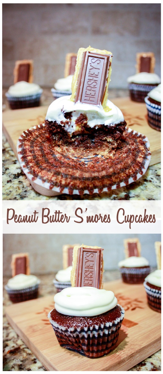 Peanut Butter S'mores Cupcakes