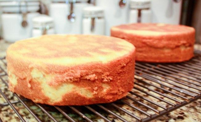 White Velvet Strawberry Buttercream Cake-2385