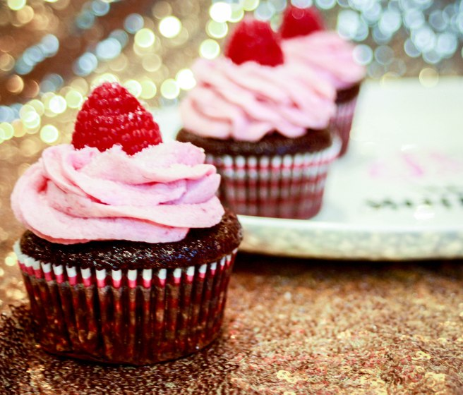Chocolate Raspberry Cupcakes-2742