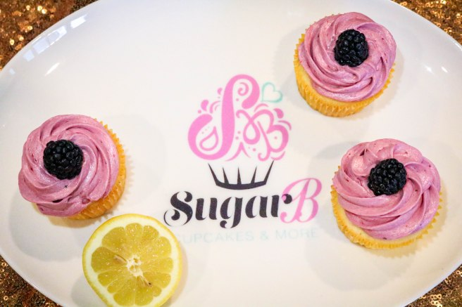 Lemon Cupcakes with Blackberry Buttercream-3132